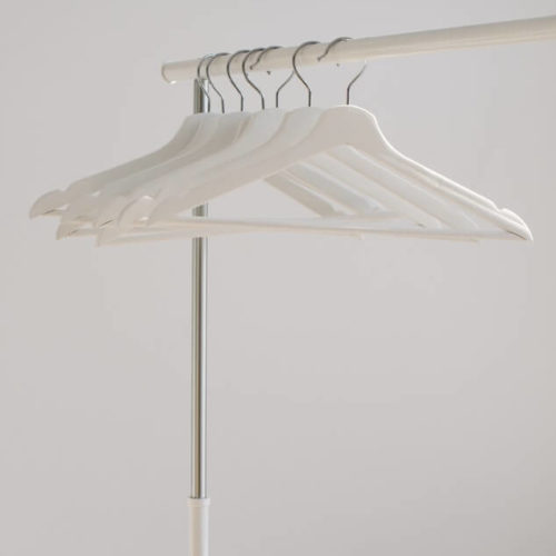 White hangers on rail - outfits that will get you views