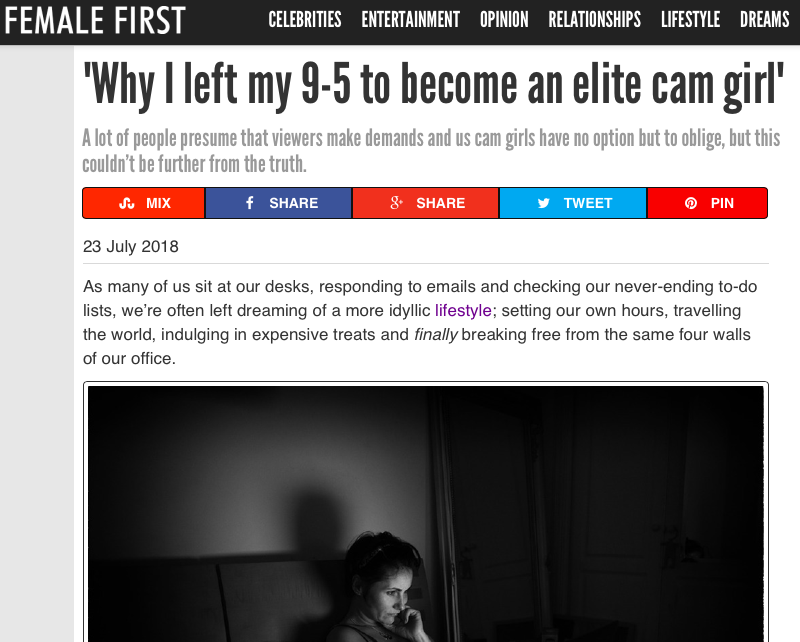 Female First – Why OTR Model Ivy left her 9 – 5