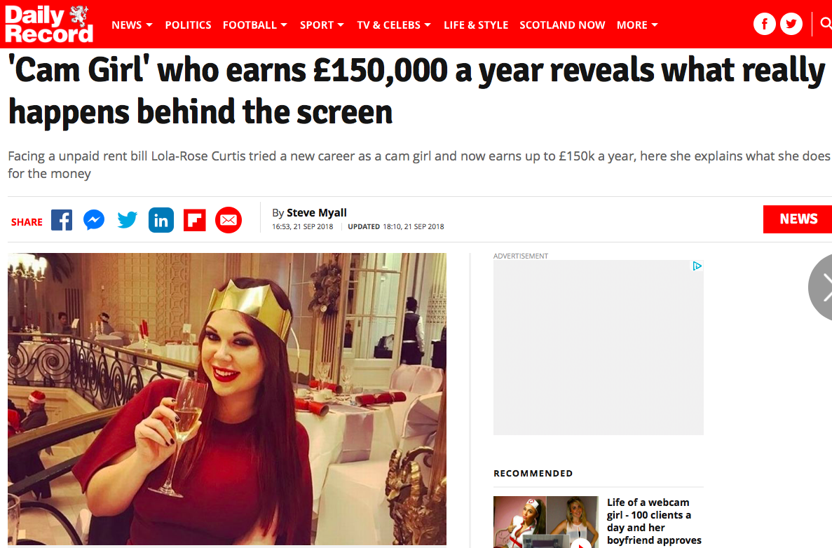 The Daily Record – The truth behind a £150,000 pay packet